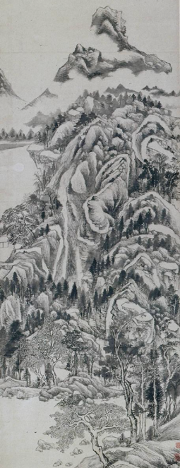 Dong Qichang, The Qingbian Mountain, 1617 (detail)