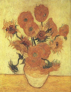 Vincent Van Gogh, Still Life: Vase with Fifteen Sunflowers,1889